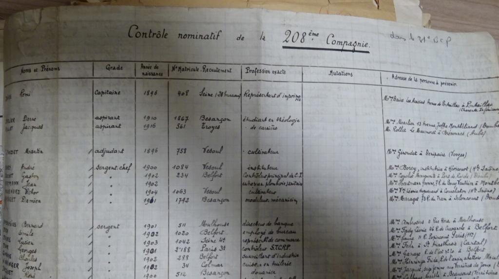 Dépôt d'Infanterie n°72 Compagnie 203 Valdoie (Belfort) Dsc02714