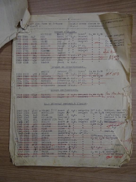 Dépôt d'Infanterie n°72 Compagnie 203 Valdoie (Belfort) Dsc02716