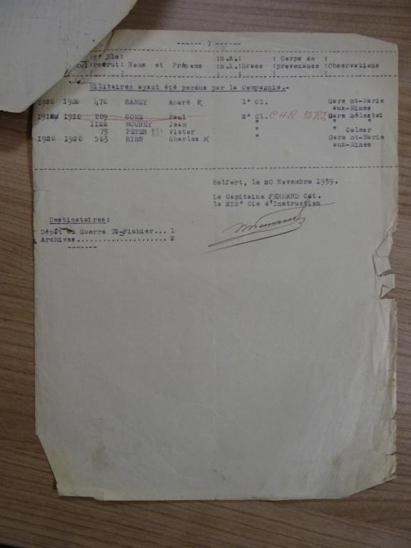 Dépôt d'Infanterie n°72 Compagnie 203 Valdoie (Belfort) Dsc02720