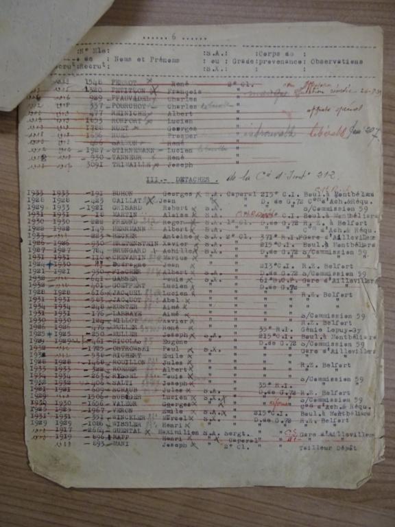 Dépôt d'Infanterie n°72 Compagnie 203 Valdoie (Belfort) Dsc02722