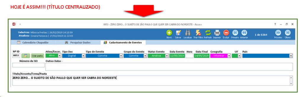 Que o Título do Formulário fique alinhado à esquerda Imagem10