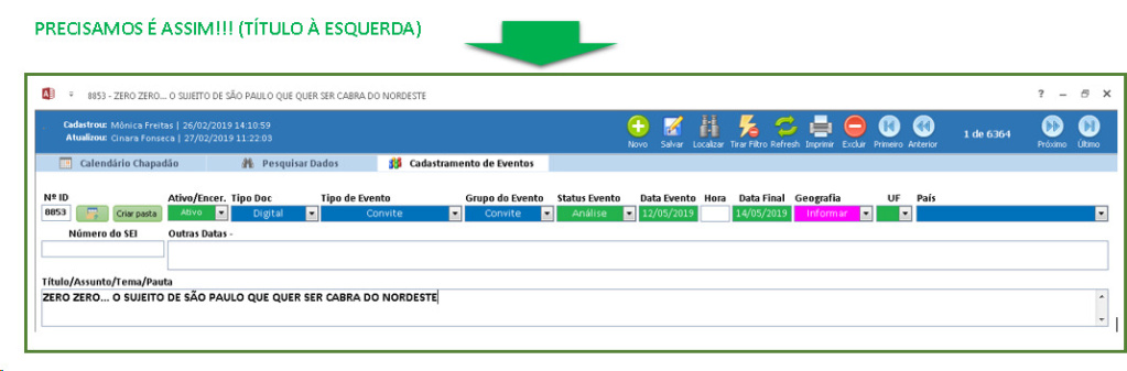Que o Título do Formulário fique alinhado à esquerda Imagem11