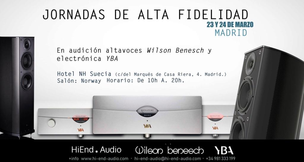 Jornadas de Alta Fidelidad: Cosmos hi-fi + HiEnd Audio 23 y 24 de marzo.  53060010