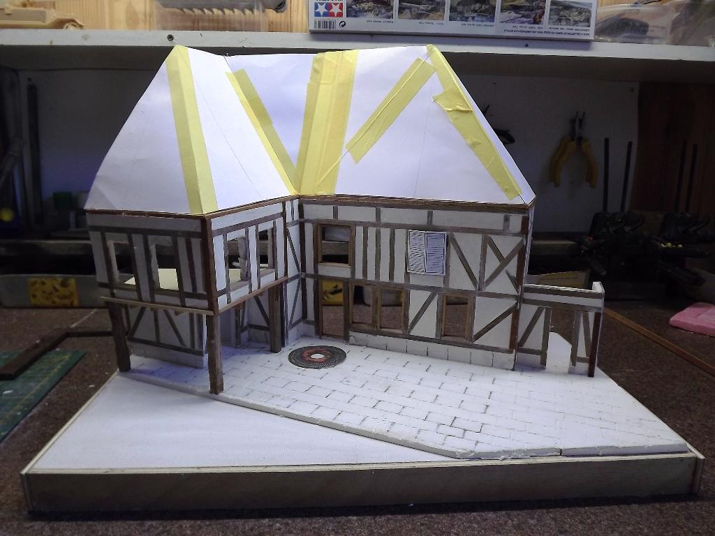 Pas-à-pas maison type Normande pour diorama 1/35 - Page 2 04_210