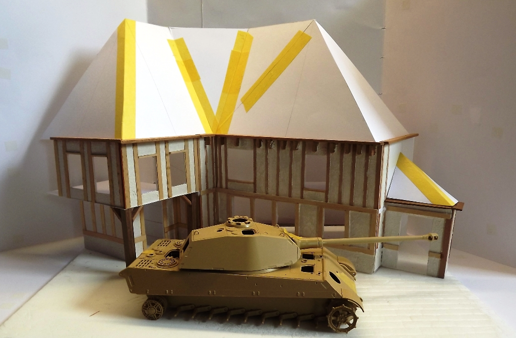 Diorama maison normande - 1/35 Dscf3938
