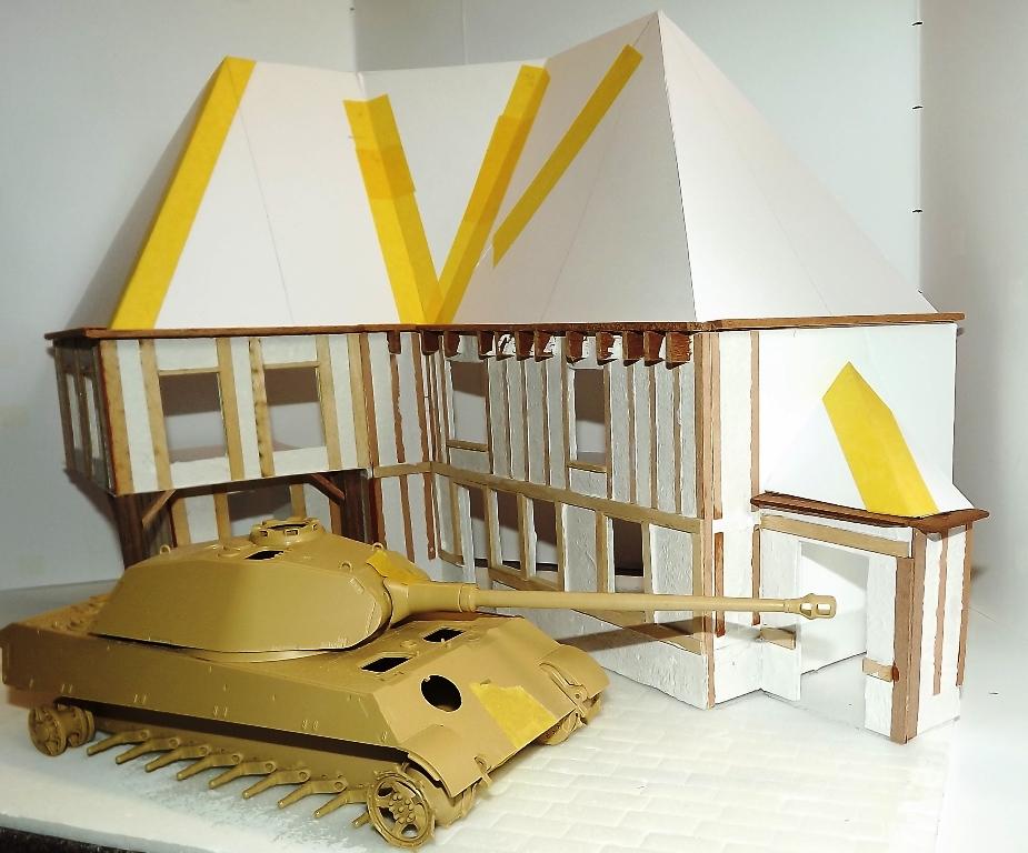 Diorama maison normande - 1/35 Dscf3940