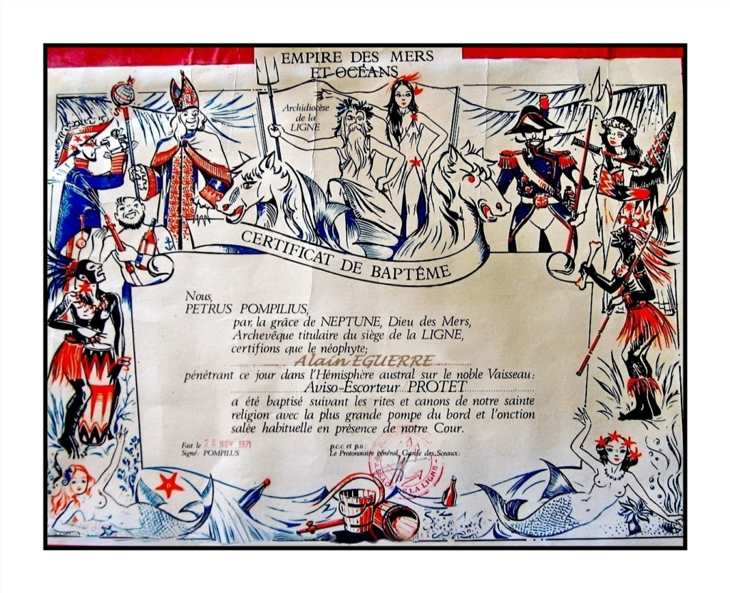 [ Les traditions dans la Marine ] LE PASSAGE DE LA LIGNE - ÉQUATEUR (Sujet unique) - Page 14 Le-pas11