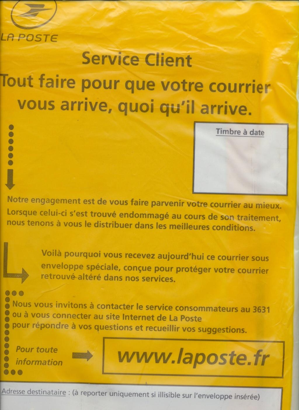 Enveloppe spéciale pour courrier altéré Poste11