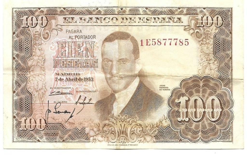 100 Pesetas 1953, CAPICÚA 1e587712