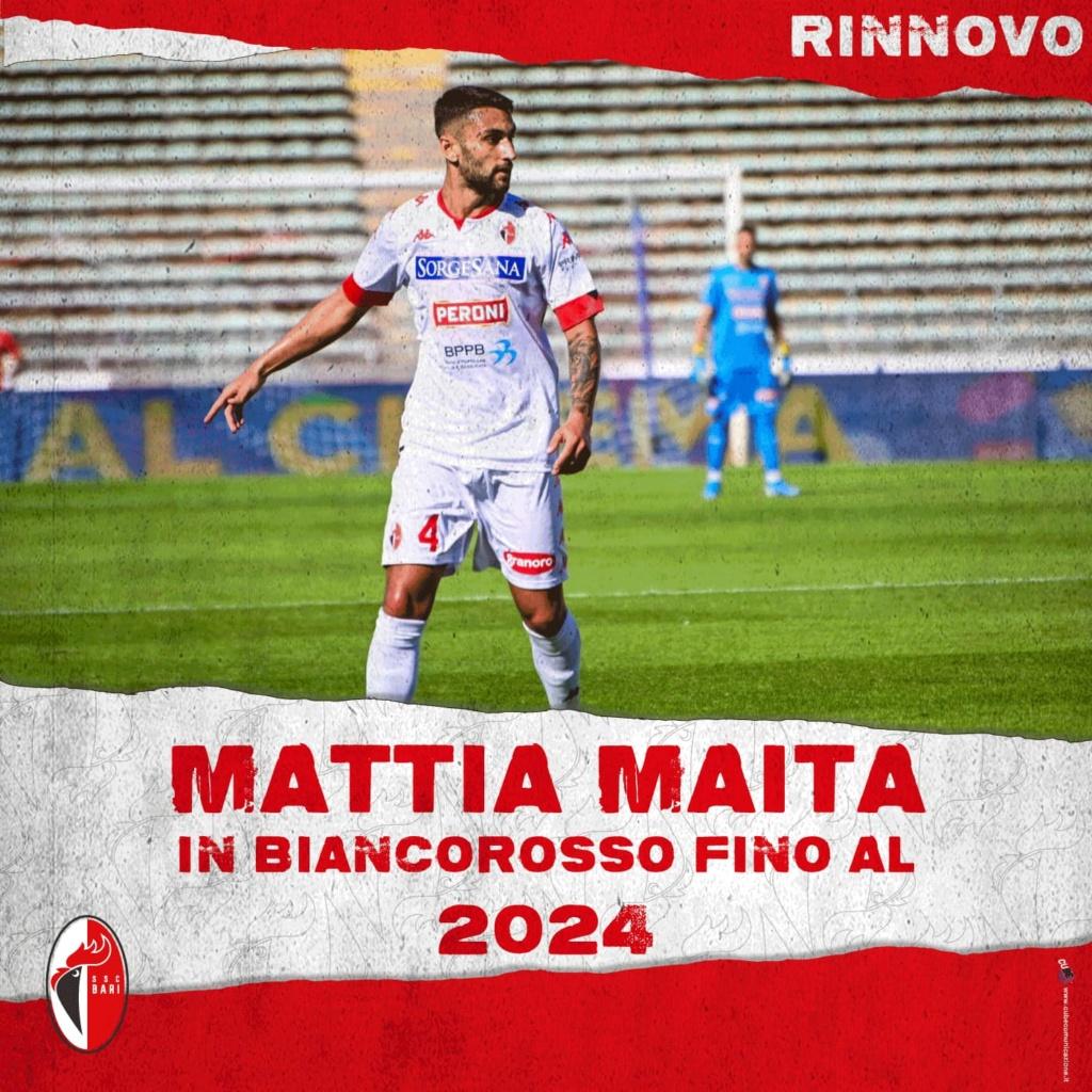 20-3-21 SSCBARI Rinnovo per Mattia Maita in Biancorosso fino al 2024 16330510