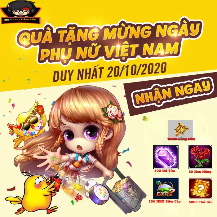 Gunny Mixi【QUÀ TẶNG MỪNG NGÀY PHỤ NỮ VIỆT NAM】 20-10 20-10n10