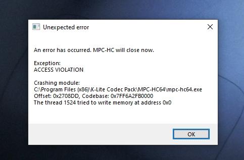 Memory Address ERROR When Pause + Capturing (F5) Clipbo10