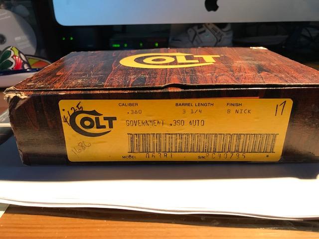 WTS-COLT GOVT MODEL 380 BRIGHT NICKLE, **PRICE REDUCTION** Colt_316