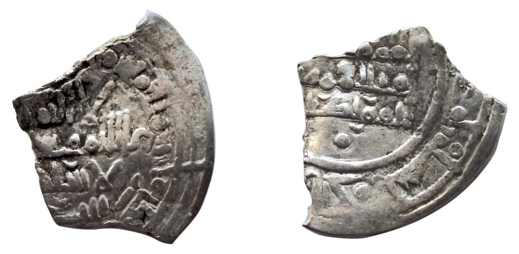 Dírham fraccionado de Hixam II, (al-Ándalus) 401 H 831_1210