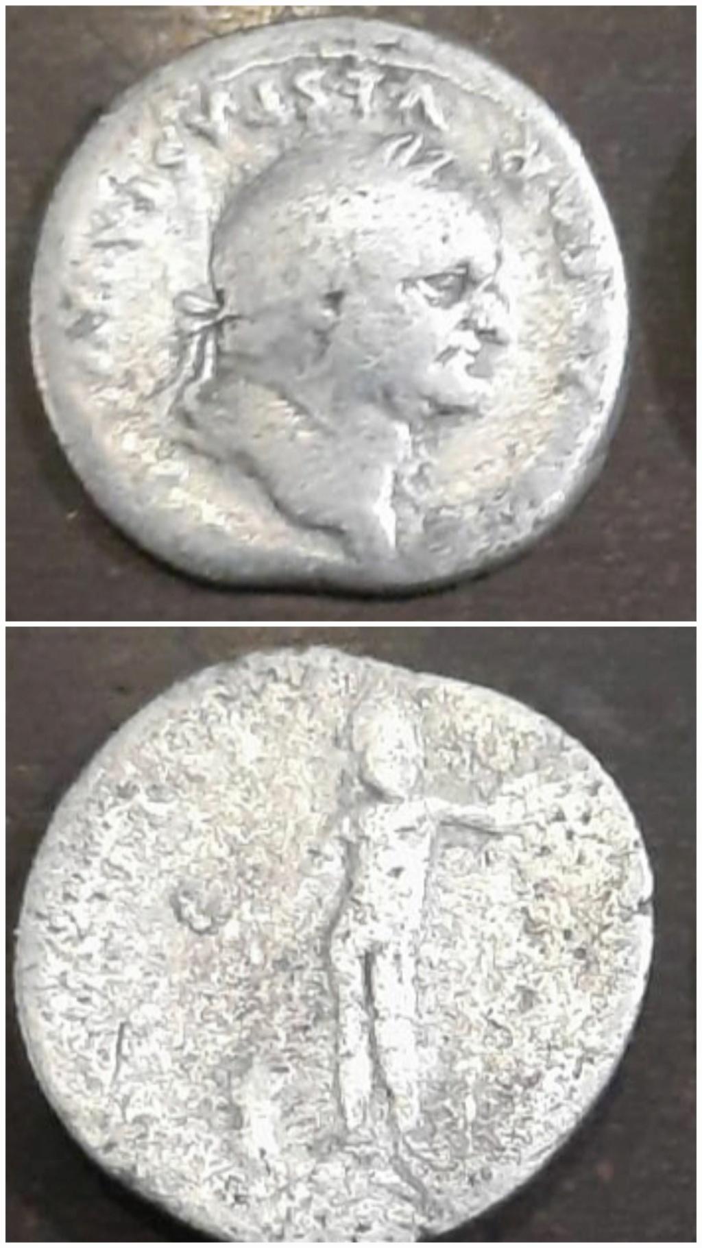 Denario de Vespasiano. IOVIS CVSTOS. Júpiter de frente. Roma 20210216