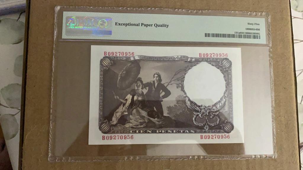 100 pesetas 1946 encapsulado PMG 65 EPQ Img-2020