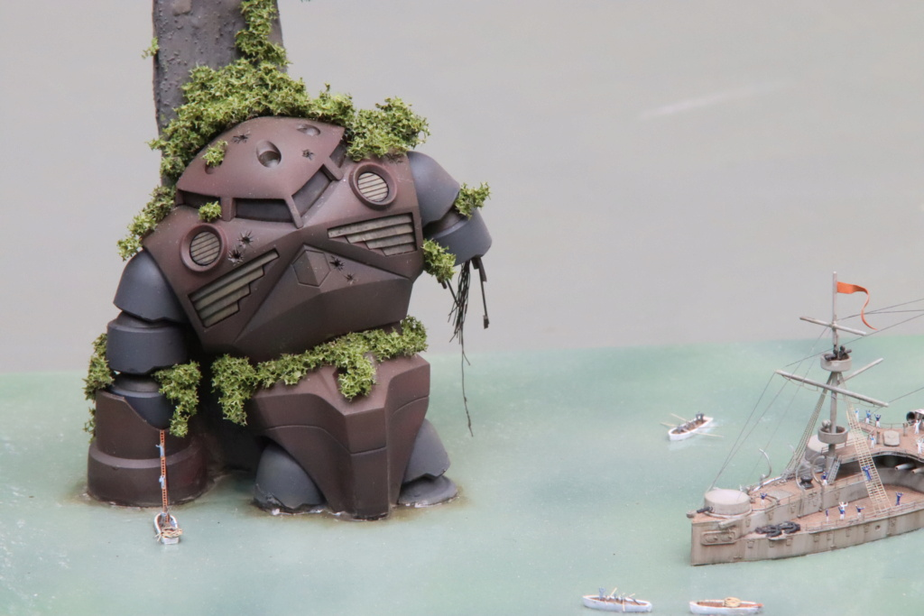 "Diorama ""rétro science-fiction"" au 1/700 Img_1214"