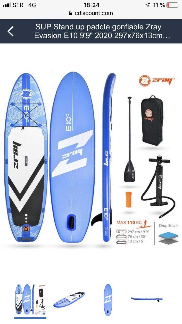 Vend paddle gonflabe ZRAY évasion E10  4f084710
