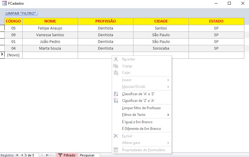 [Resolvido]Limpar de uma única vez todos os filtros usado no meu formulário contínuo Sem_tz13