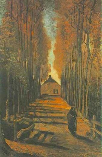 Avenida de álamos en otoño. Vincent Van Gogh Avenue10