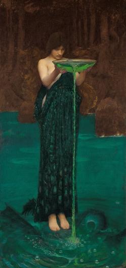 """""""Circe envidiosa"""".  John William Waterhouse Circe10"""