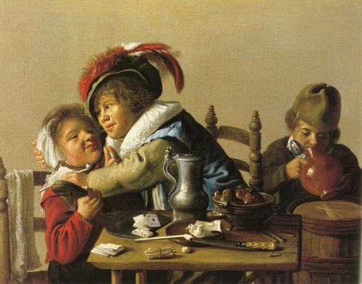 Tres niños en la mesa. Jan Miense Molenaer   Jan_mi10