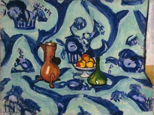"""Bodegón con mantel azul"" Henri Matisse Matiss10"