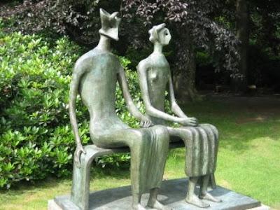 """""""Rey y reina"""". Henry Moore Moore510"""