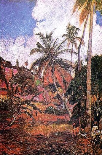 Palmeras. Paul Gauguin Palmie10