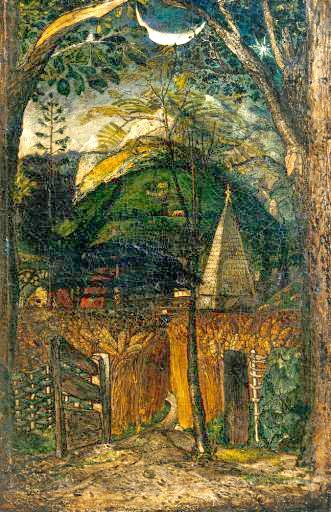 A Hilly Scene. Samuel Palmer Paysag10
