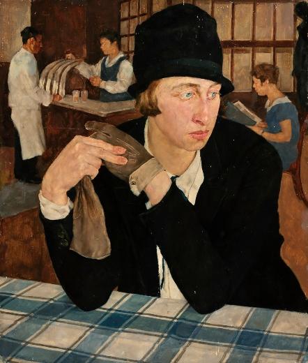 """""""En el restaurante"""". Lotte Laserstein Restau10"""
