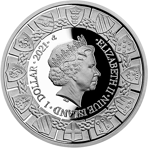 The Legend Of King Arthur 1 Oz Silver Coin 1$ Niue 2021 617zeb11