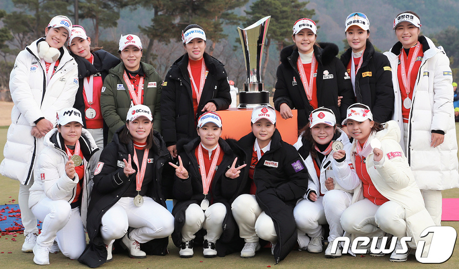 KLPGA - LPGA  Orange Life Champions Trophy 2018 ( Blue One Dianus Country Club - Korea ) Orange10