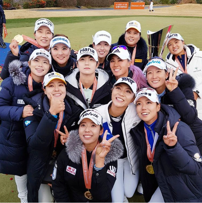 KLPGA - LPGA  Orange Life Champions Trophy 2018 ( Blue One Dianus Country Club - Korea ) Orange11