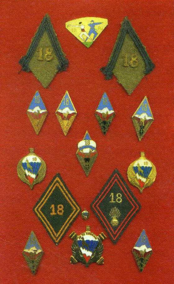 Quelques insignes du 18° Insign11