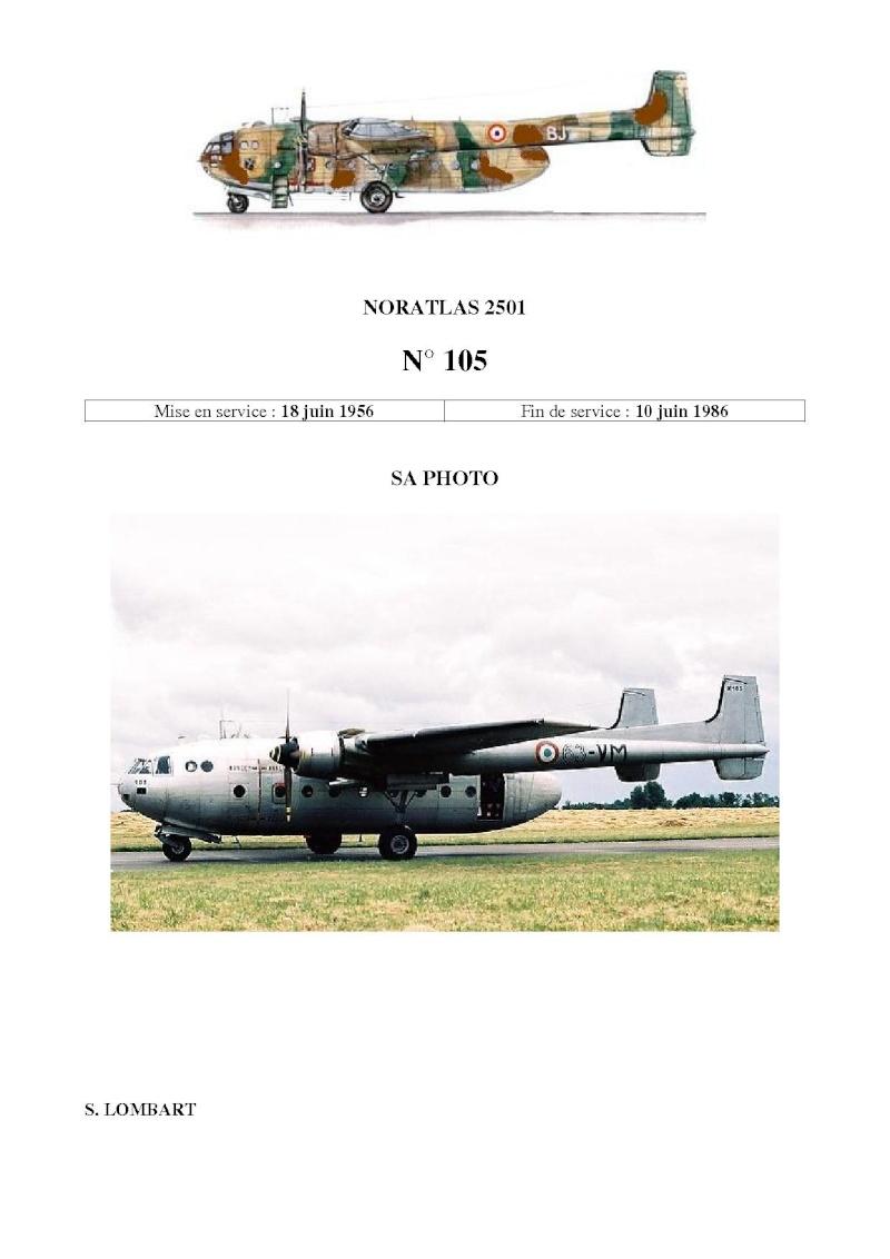 Noratlas n° 105 - toujours en service au 10 avril 2011 N_10513