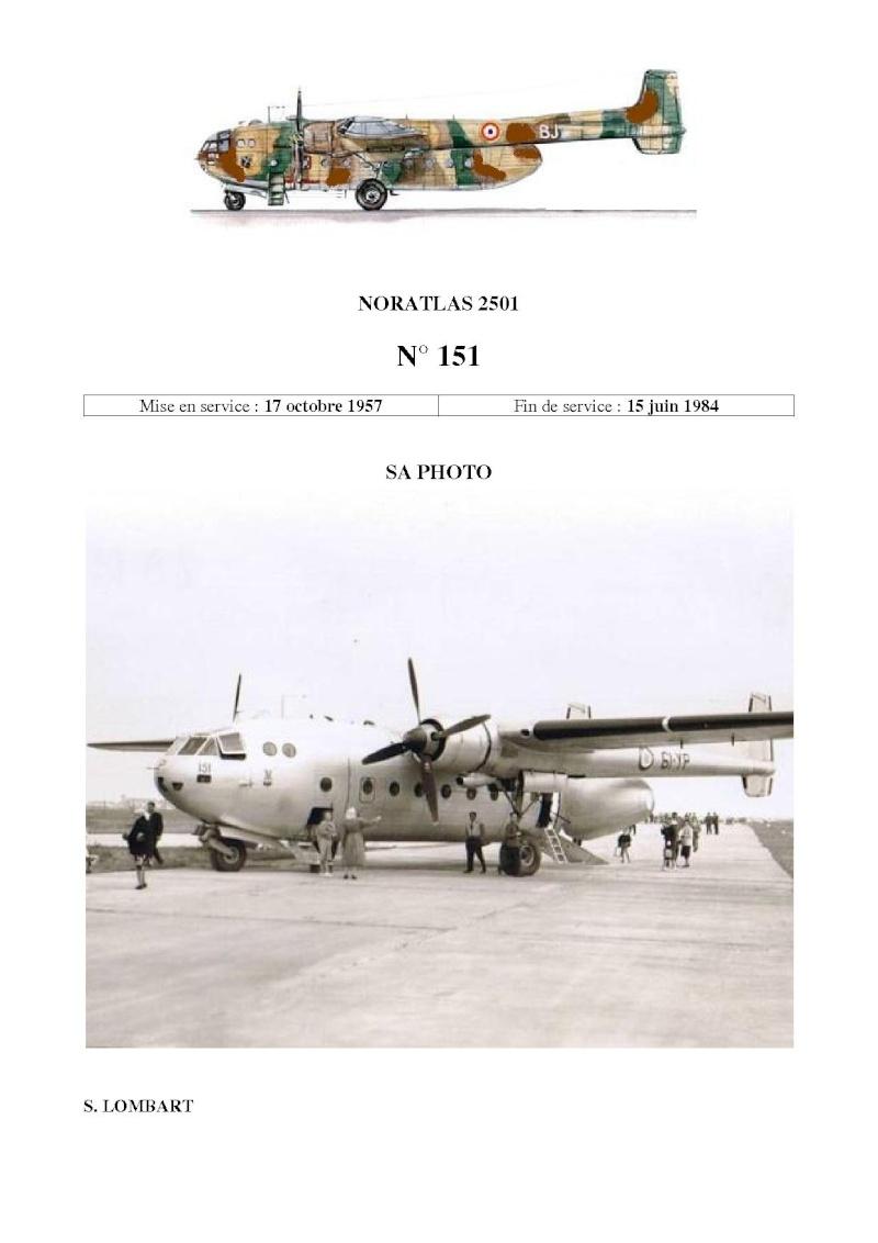 Noratlas n°151 Mis en service le17 octobre 1957 - Fin de service le 15 juin 1984 N_15110