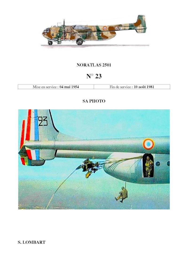 Noratlas n° 23 - Mise en sevice le 4 mai 1954 - hors service le 10 août 1981 N_2310