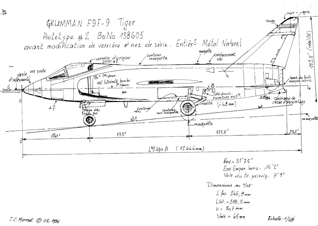 Grumman F9F-9 (F11F) Tiger, Lindberg 1/48, 1955 Img_0065