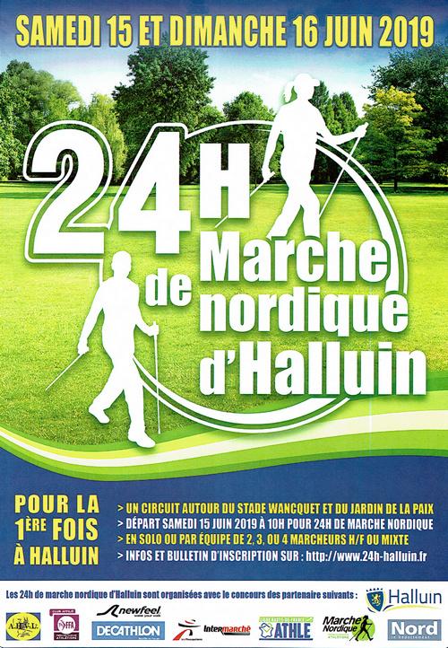 06/19 Les 24 h de Marche Nordique de Halluin Flyer-11