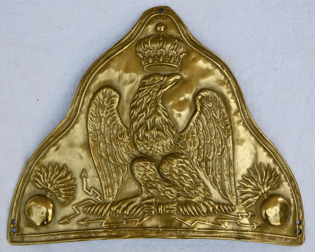 Plaque d'ourson de grenadier de la Garde Imperiale Premier Empire  ( avis ) Fullsi96