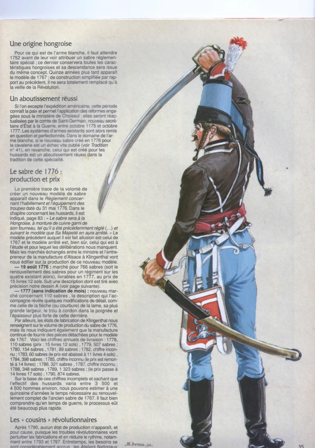 Sabres de hussards modèle 1777, variantes révolutionnaires H1776_10