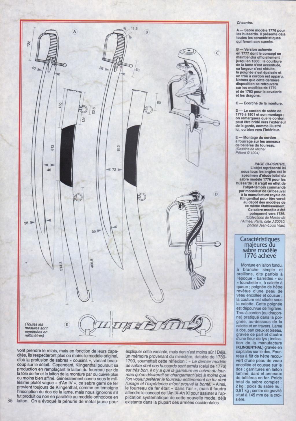 Sabres de hussards modèle 1777, variantes révolutionnaires H1776_11