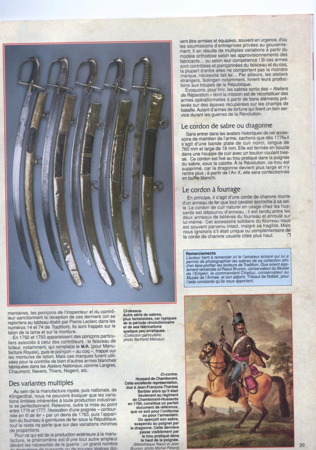Sabres de hussards modèle 1777, variantes révolutionnaires H1776_15