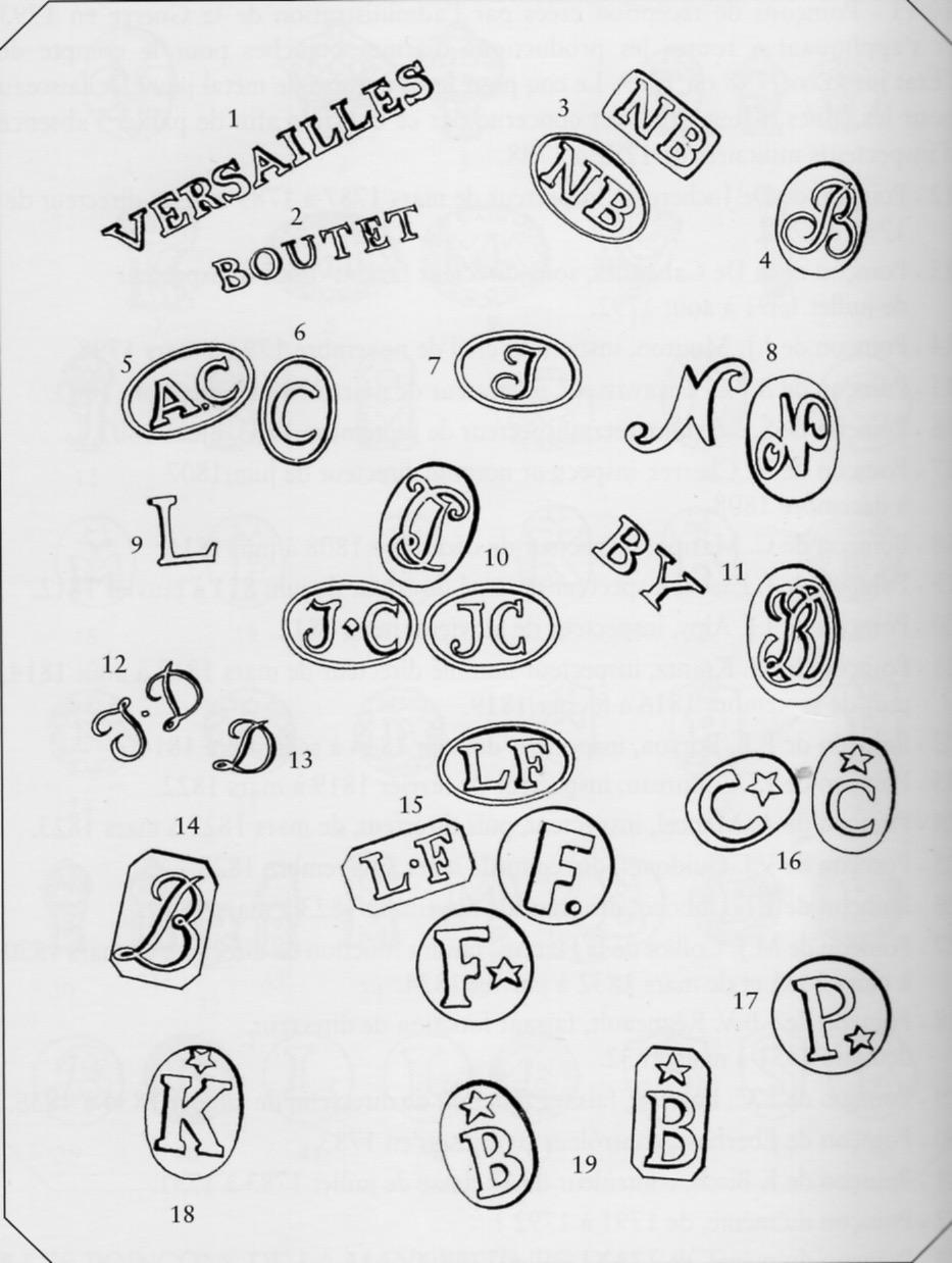 identification poinçons sabre cuirassier an XI Versai11