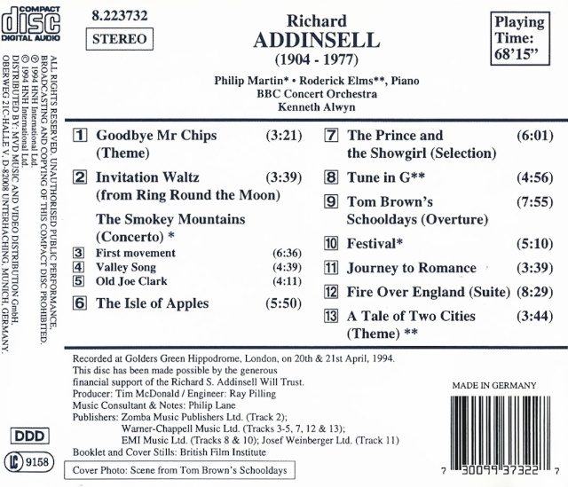 Addinsell - Richard Addinsell (1904-1977) Back13