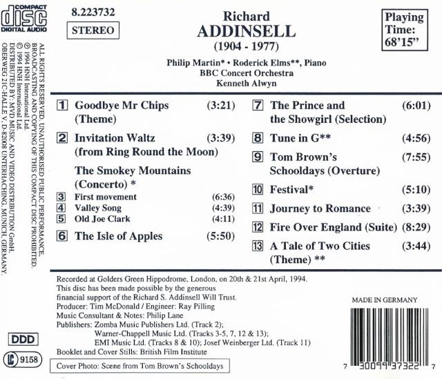 Richard Addinsell (1904-1977) Back13