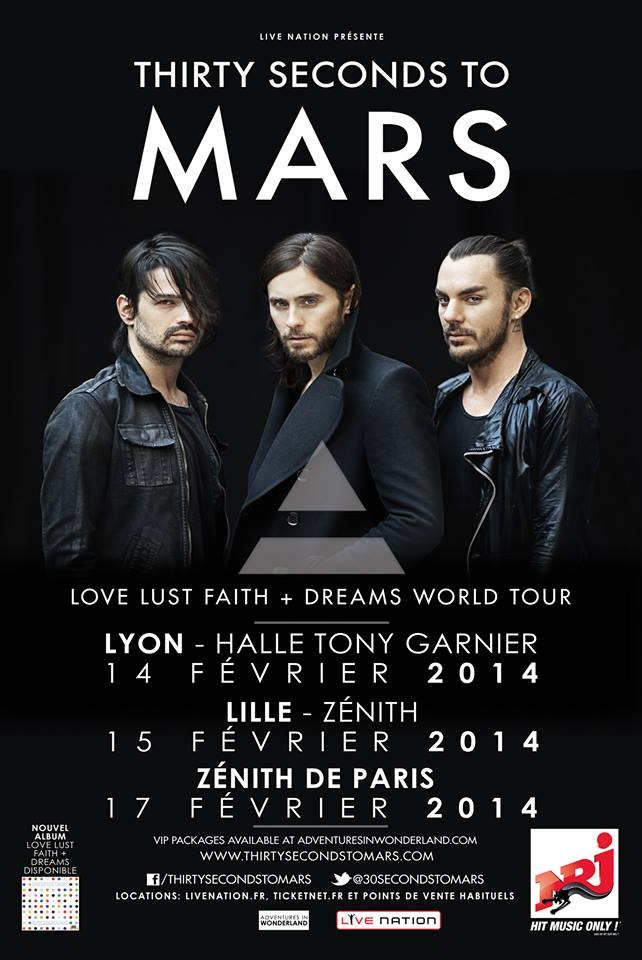 TOURNEE FRANCAISE 2014 DE 30 SECONDS TO MARS Tourne10