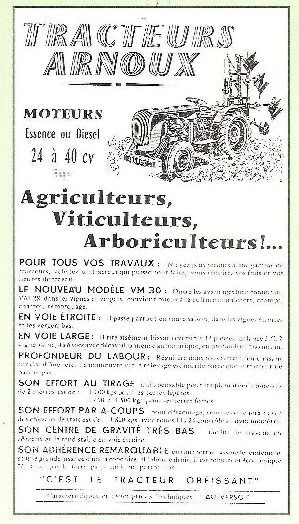 les TRACTEURS AGRICOLES à moteur 203 - Page 2 Arnoux15
