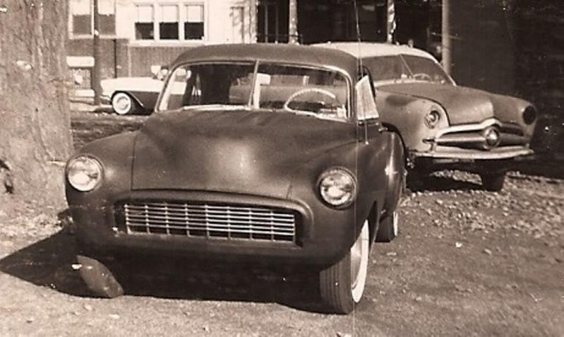 custom cars in the street ( 1950's & 1960's) 63910